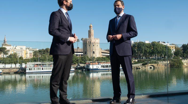 """Moreno: """"El cambio político no tiene vuelta atrás, aquí hay un gobierno  dispuesto a construir la mejor Andalucía posible"""""""