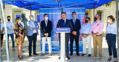 El PP inicia una campaña a pie de calle para explicar la reforma de Casado que permitirá bajar un 20% la factura de la luz